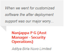 Nanjappa P G (Asst Manager - Security Operations)- Aditya Birla Nuvo Limited